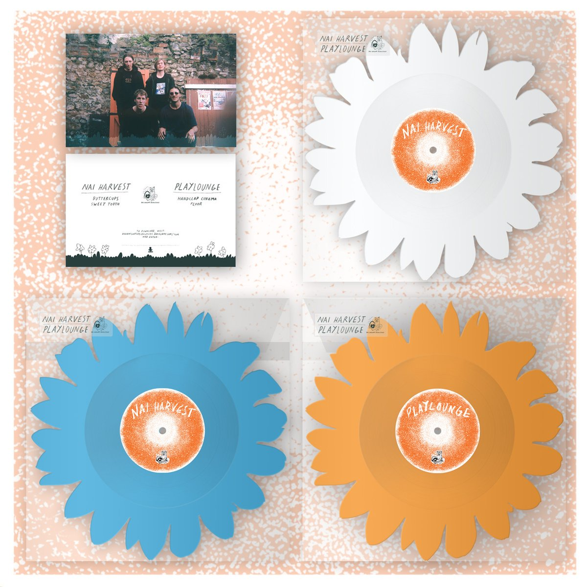 Nai Harvest / Playlounge | Flower Split LP